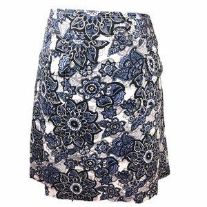 Ann Taylor Loft A-line Floral Print Skirt 12
